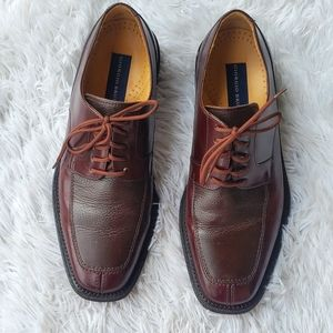 Giorgio Brutini Brown Lace-up Leather Loafers